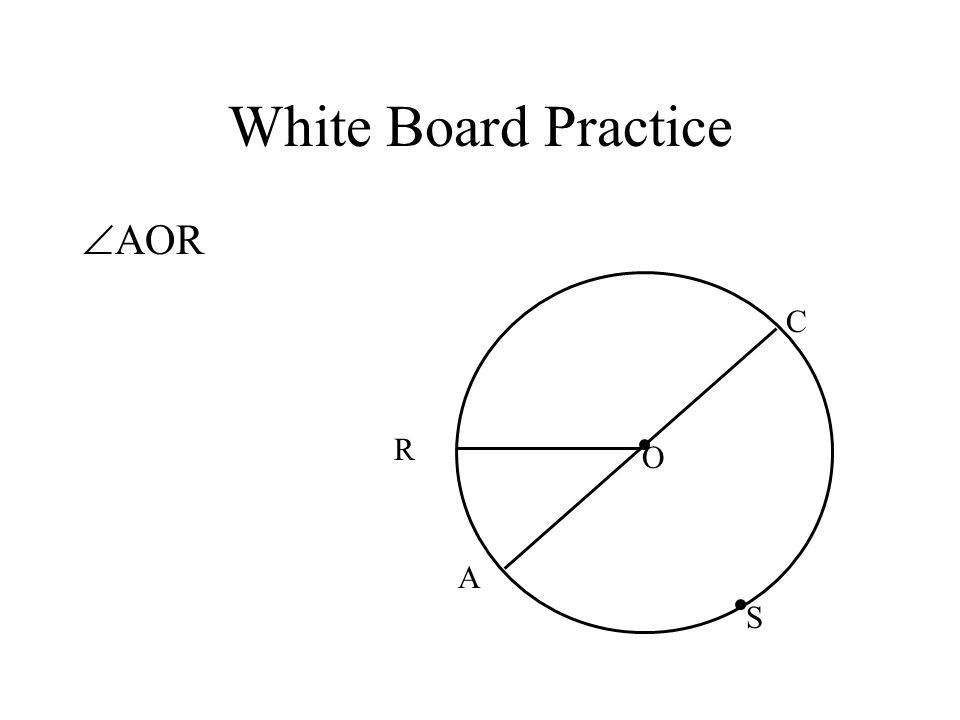 White Board Practice AOR C R O A S