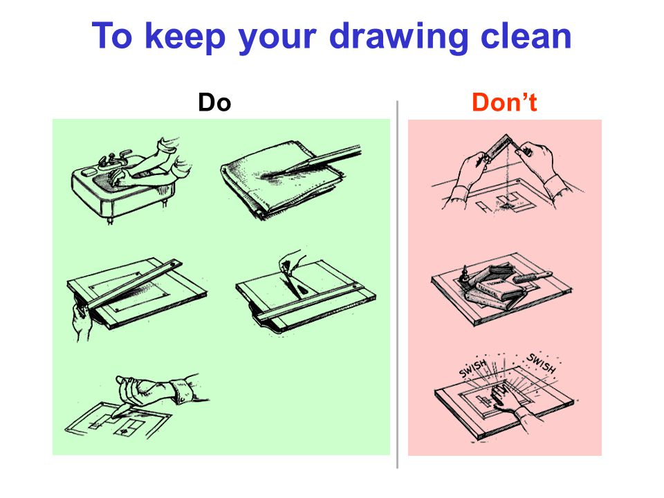 To keep your drawing clean