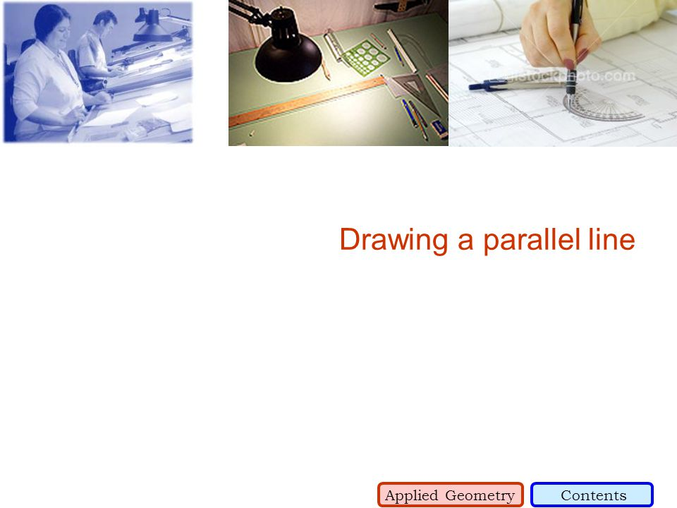 Drawing a parallel line