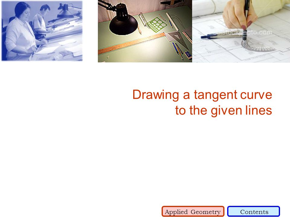 Drawing a tangent curve to the given lines