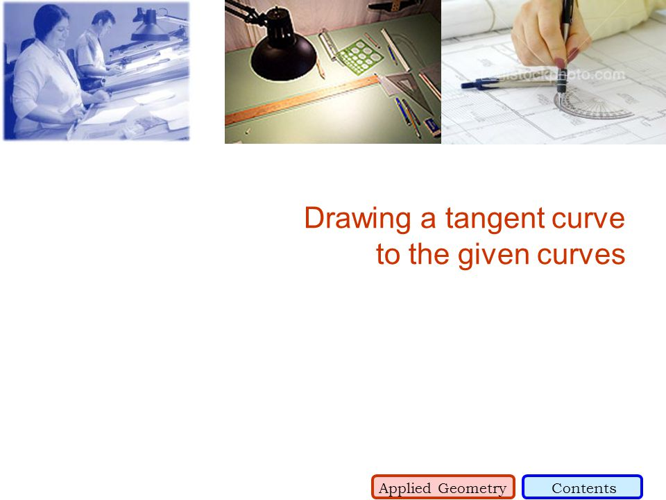Drawing a tangent curve to the given curves