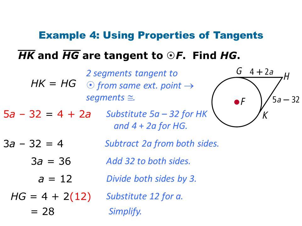 Example 4: Using Properties of Tangents