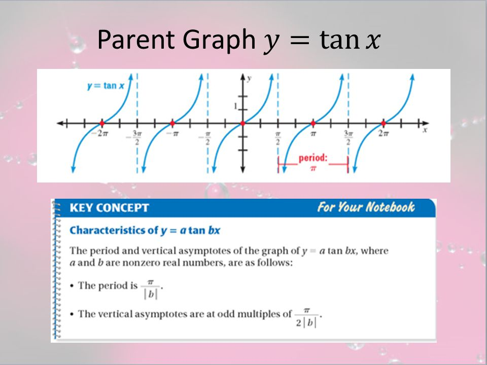 Parent Graph 𝑦= tan 𝑥