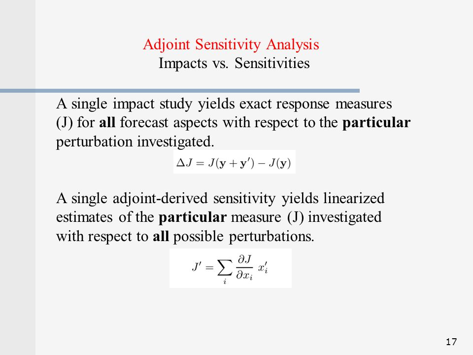 Adjoint Sensitivity Analysis