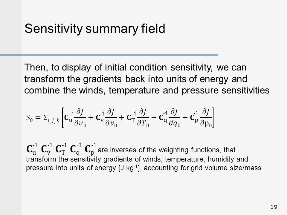 Sensitivity summary field