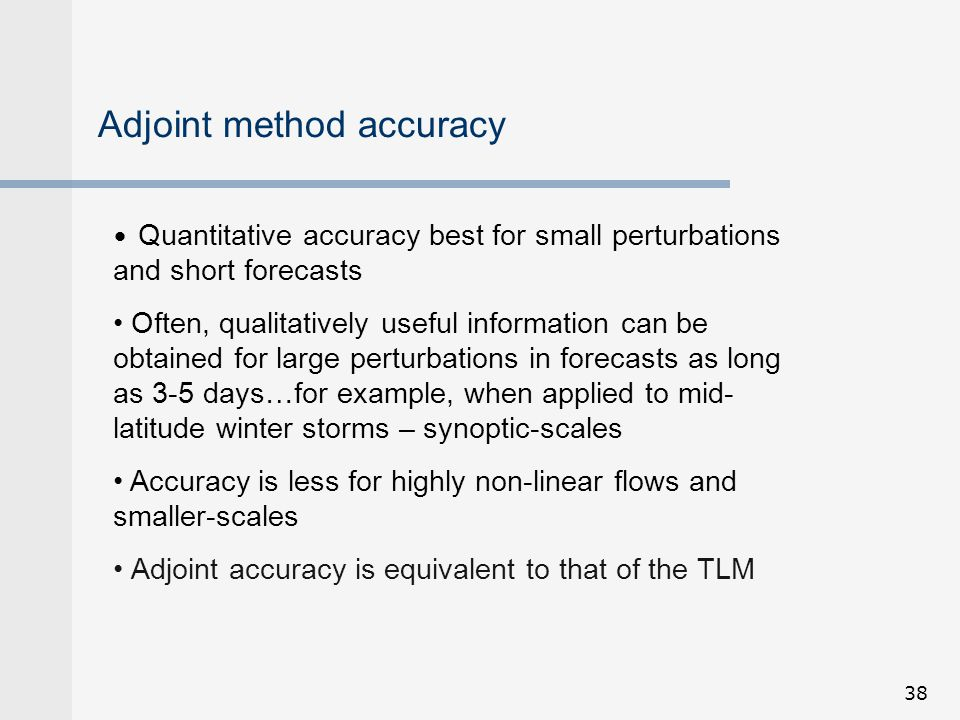 Adjoint method accuracy