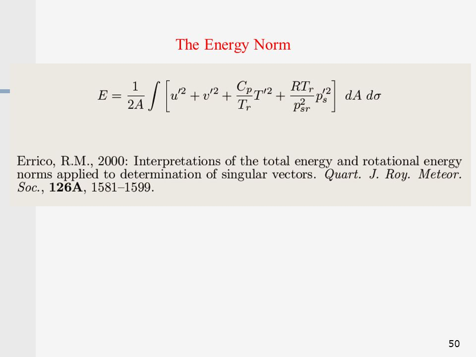 The Energy Norm