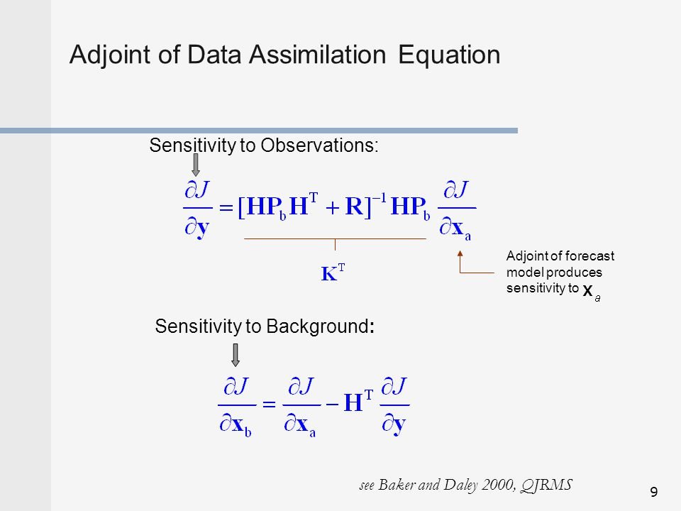 Adjoint of Data Assimilation Equation