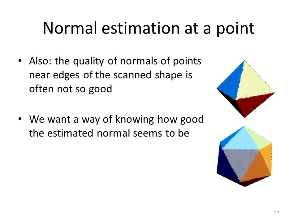 Normal estimation at a point