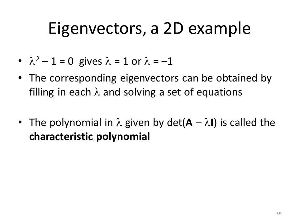 Eigenvectors, a 2D example