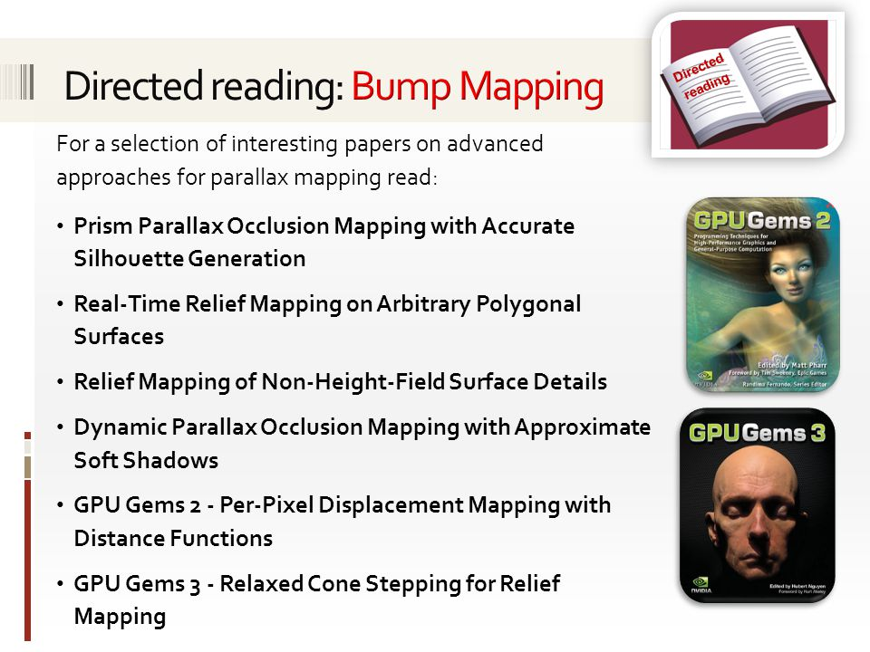 Directed reading: Bump Mapping