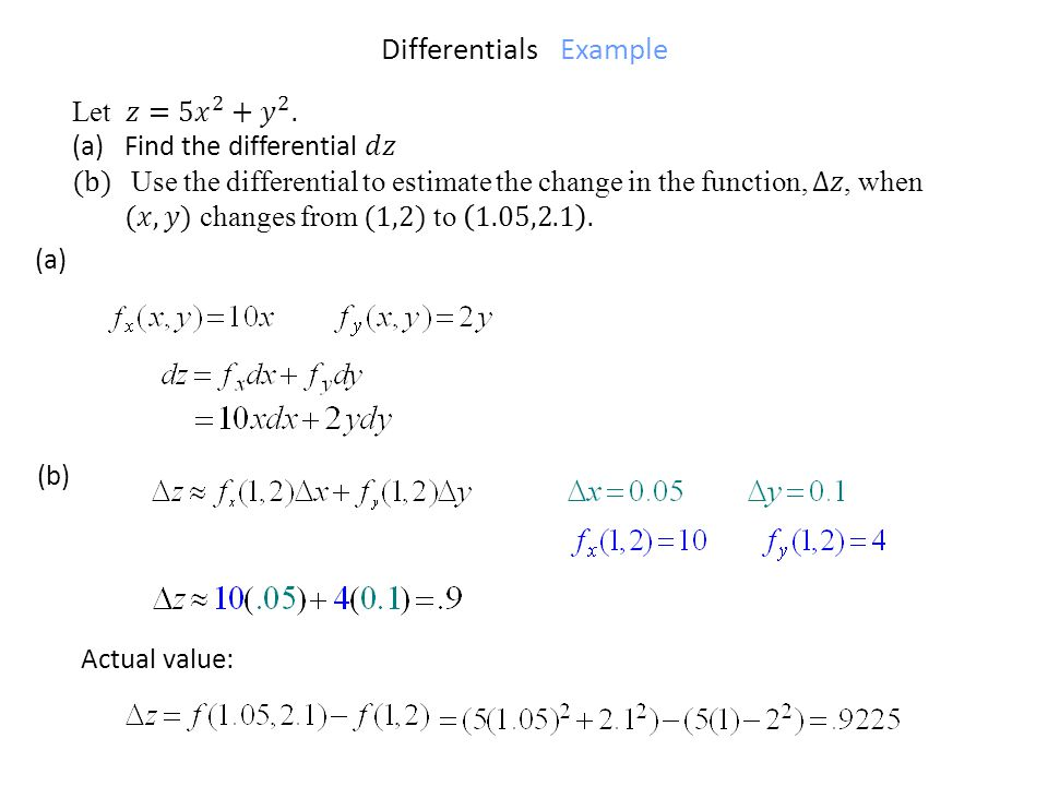 Differentials Example