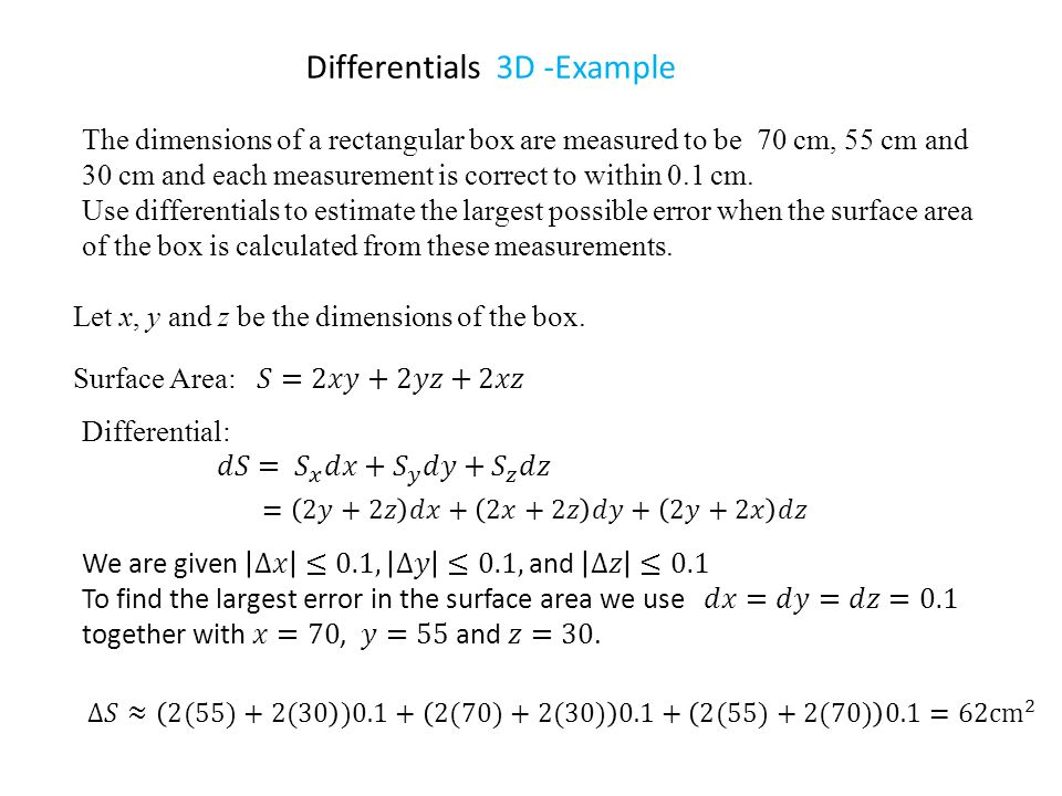 Differentials 3D -Example
