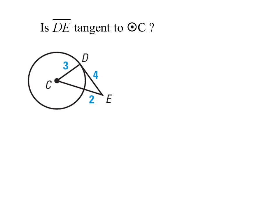 Is tangent to C