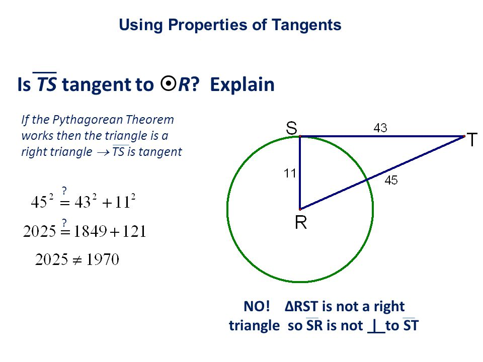 Is TS tangent to R Explain