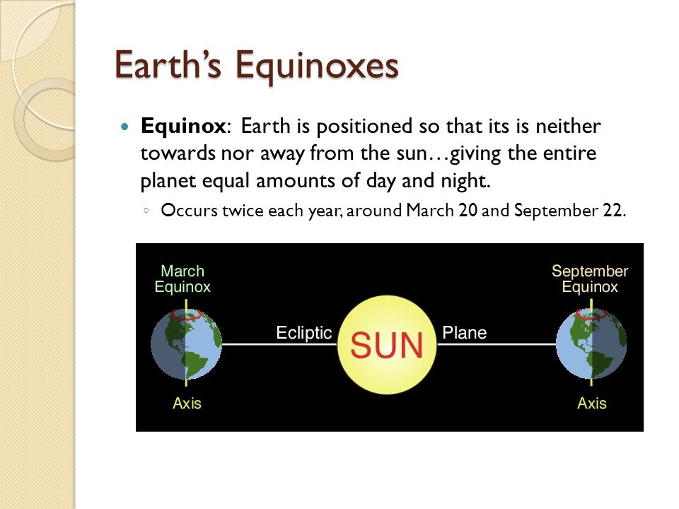 Earth's Equinoxes