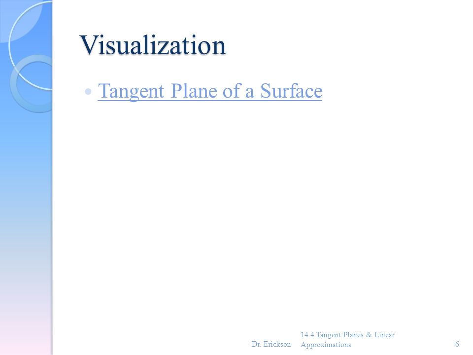 Visualization Tangent Plane of a Surface
