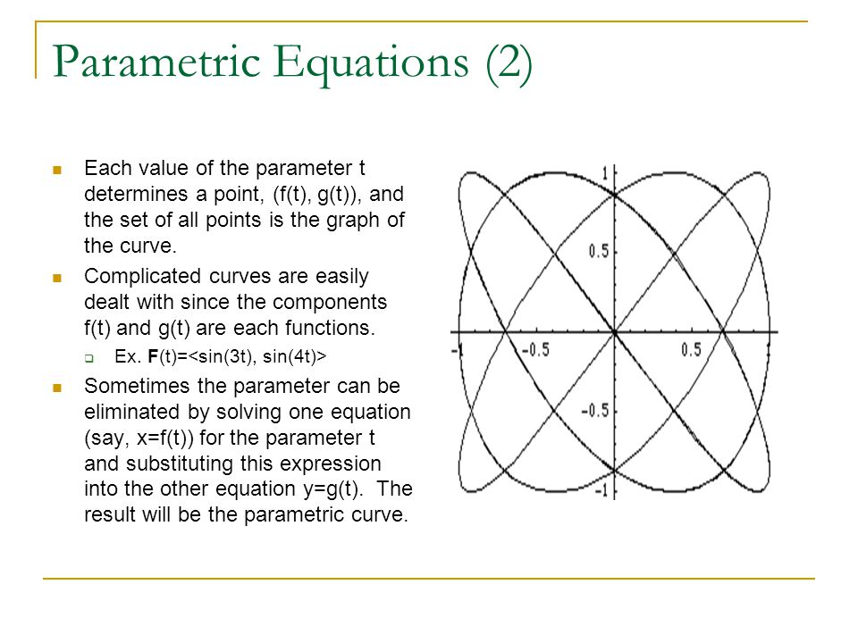 Parametric Equations (2)