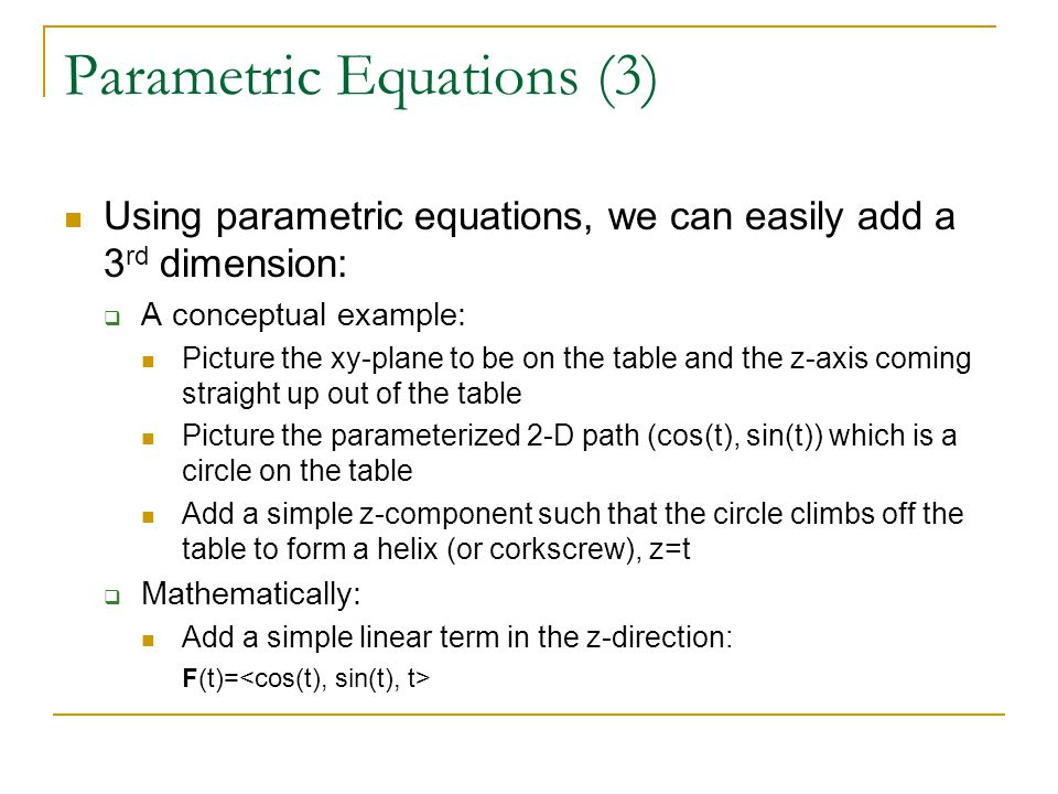 Parametric Equations (3)