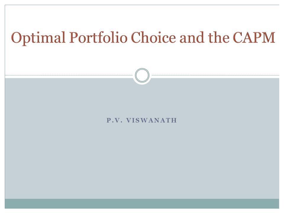 Optimal Portfolio Choice and the CAPM