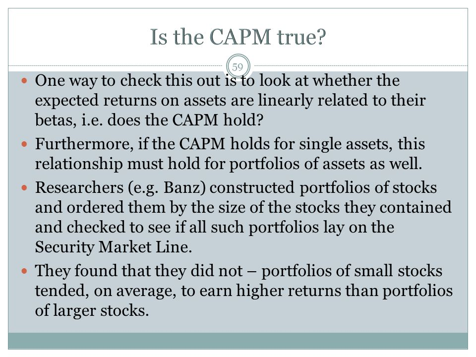 Is the CAPM true