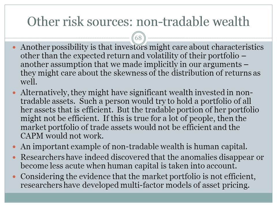 Other risk sources: non-tradable wealth