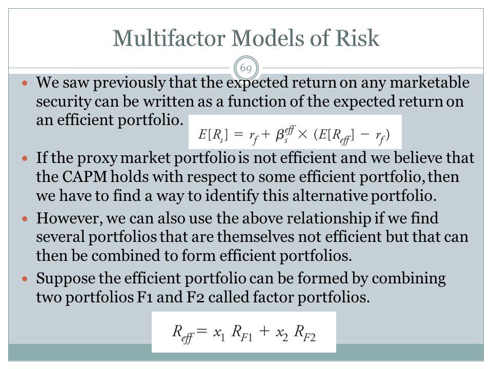 Multifactor Models of Risk