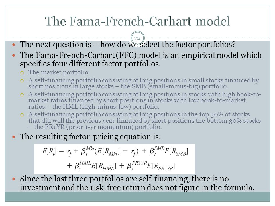 The Fama-French-Carhart model