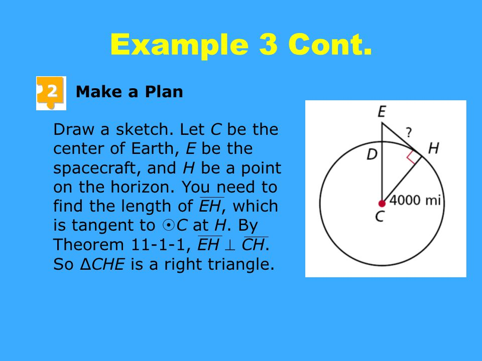 Example 3 Cont. 2 Make a Plan