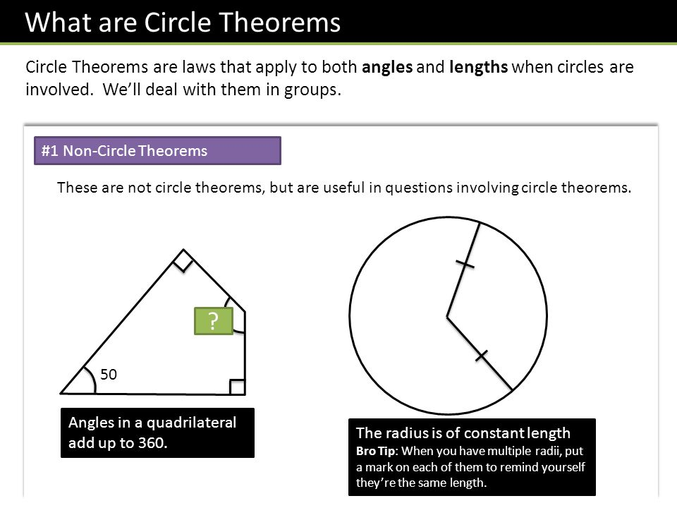 What are Circle Theorems