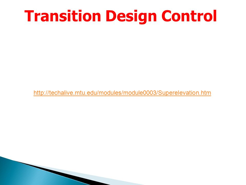 Transition Design Control