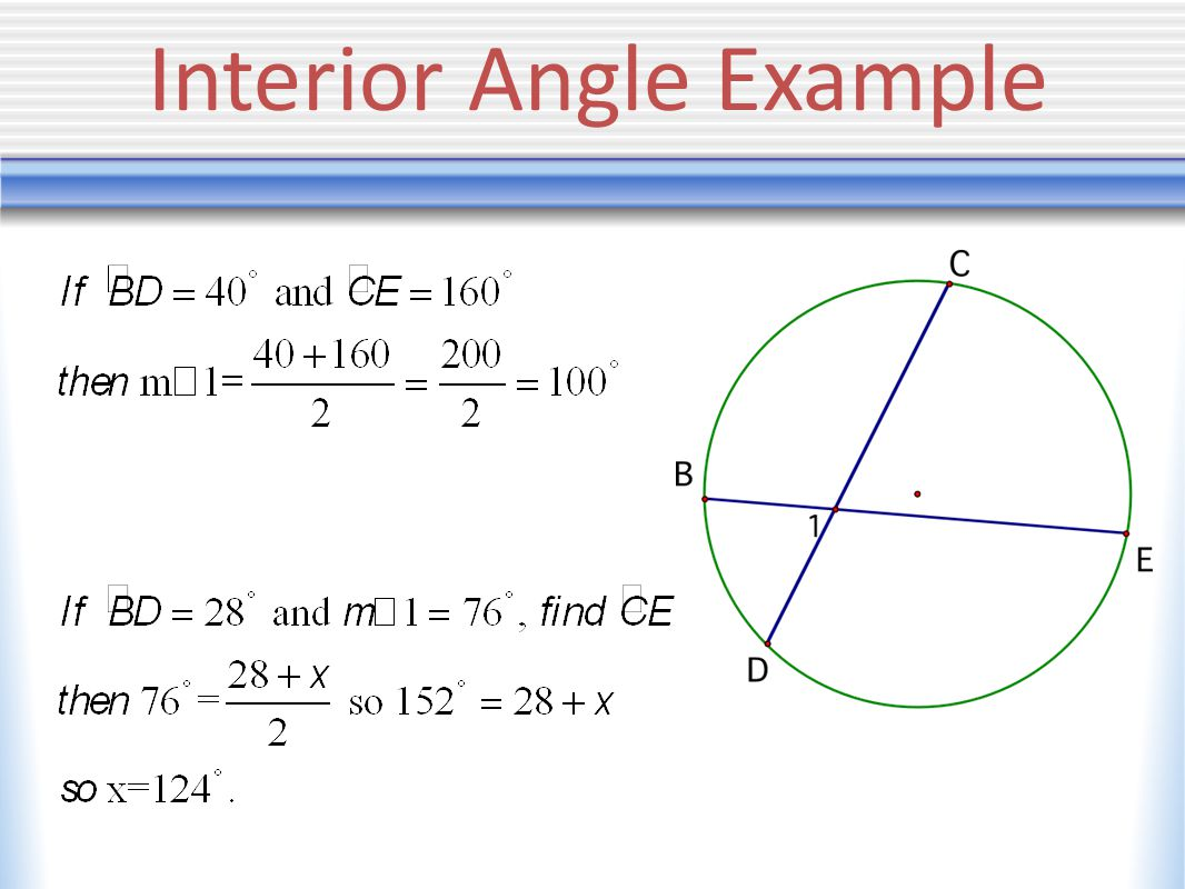 Interior Angle Example