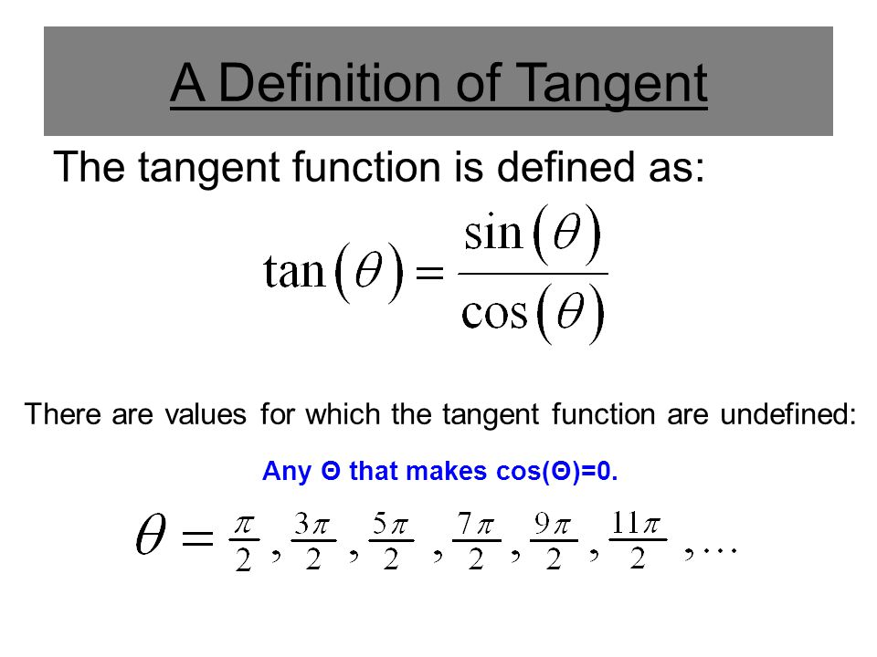 A Definition of Tangent