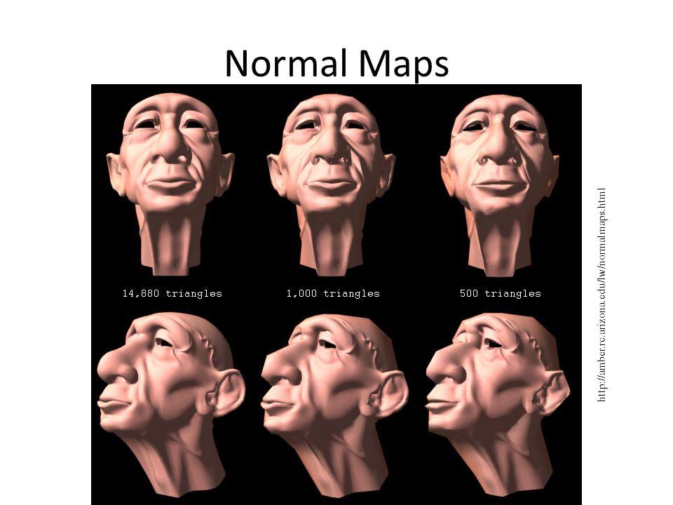 Normal Maps http://amber.rc.arizona.edu/lw/normalmaps.html