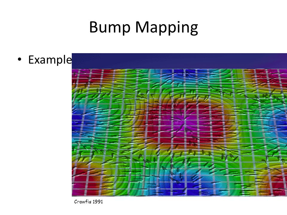 Bump Mapping Example Crawfis 1991