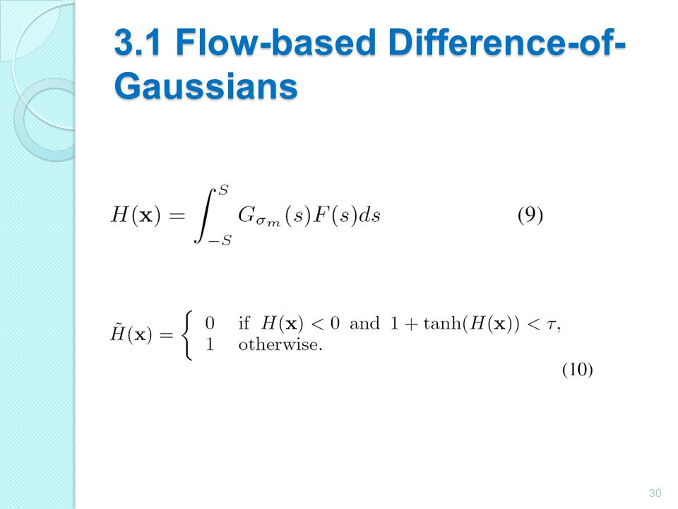 3.1 Flow-based Difference-of-Gaussians