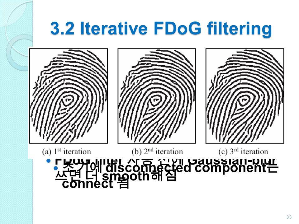 3.2 Iterative FDoG filtering
