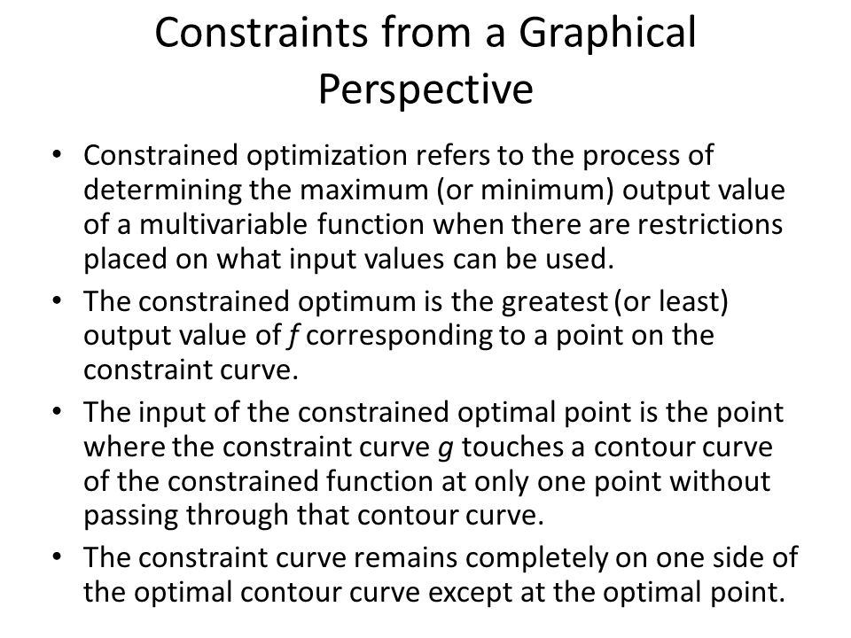 Constraints from a Graphical Perspective