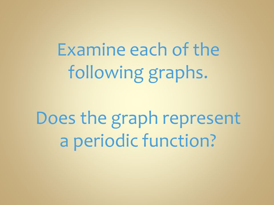 Examine each of the following graphs.