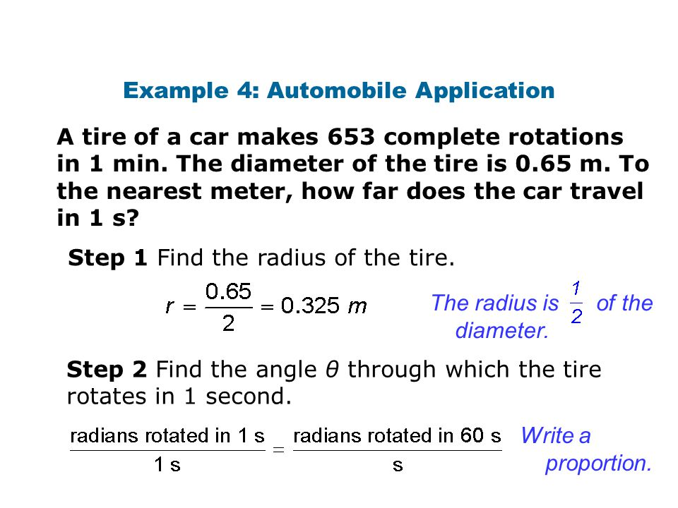 Example 4: Automobile Application