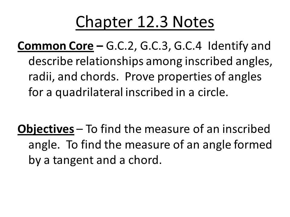 Chapter 12.3 Notes