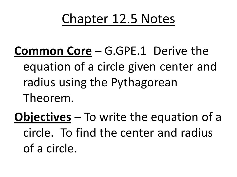 Chapter 12.5 Notes