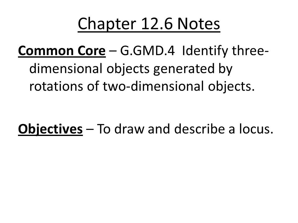 Chapter 12.6 Notes