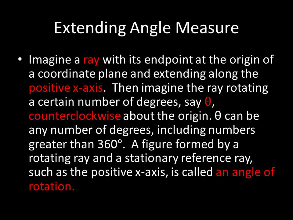 Extending Angle Measure