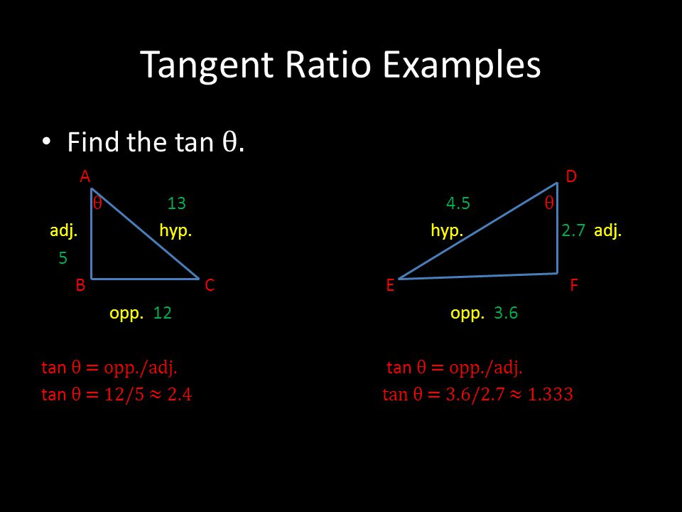 Tangent Ratio Examples