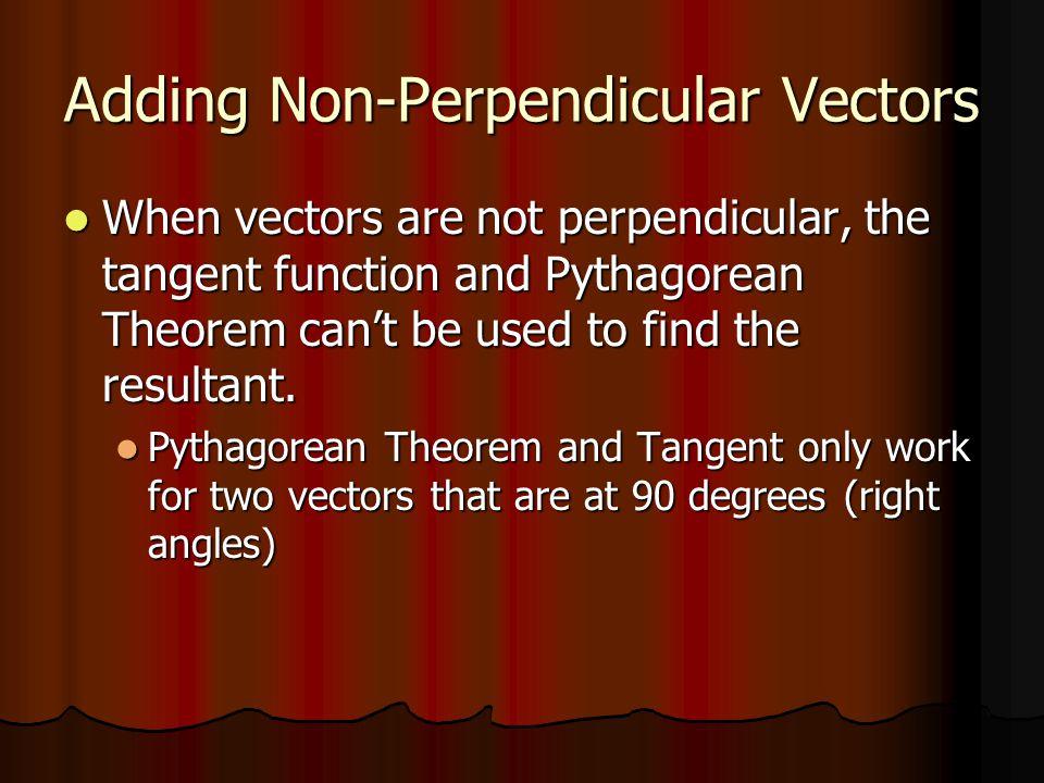 Adding Non-Perpendicular Vectors