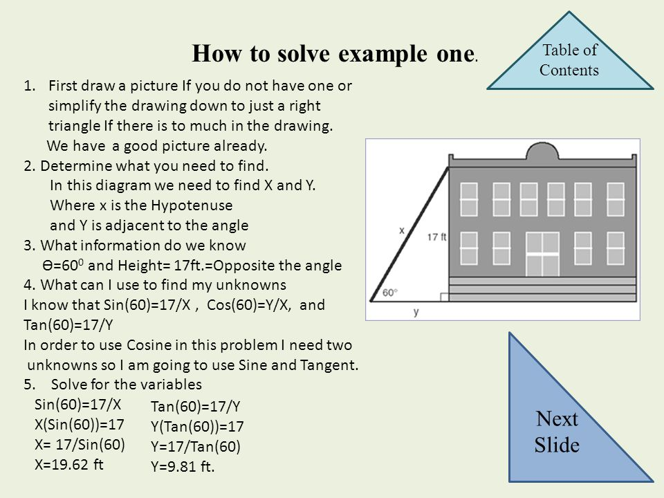 How to solve example one.