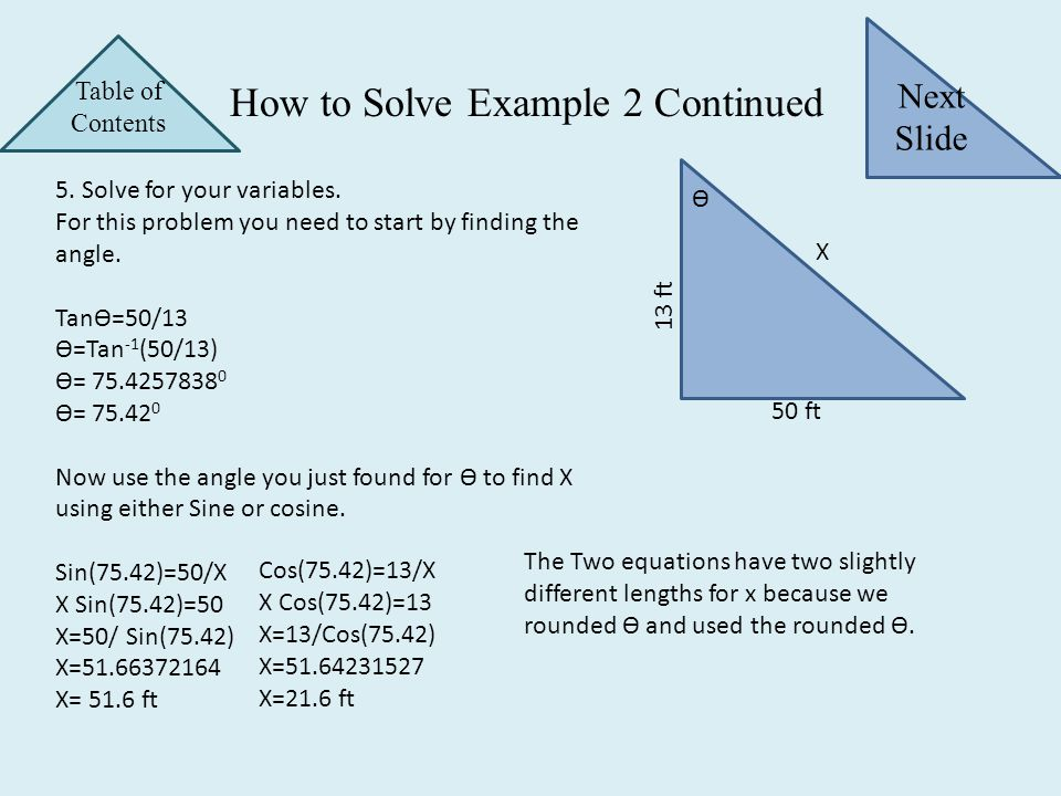 How to Solve Example 2 Continued