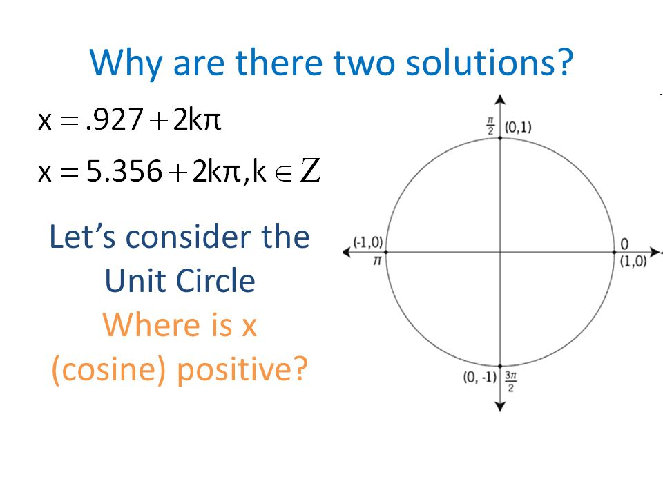 Why are there two solutions