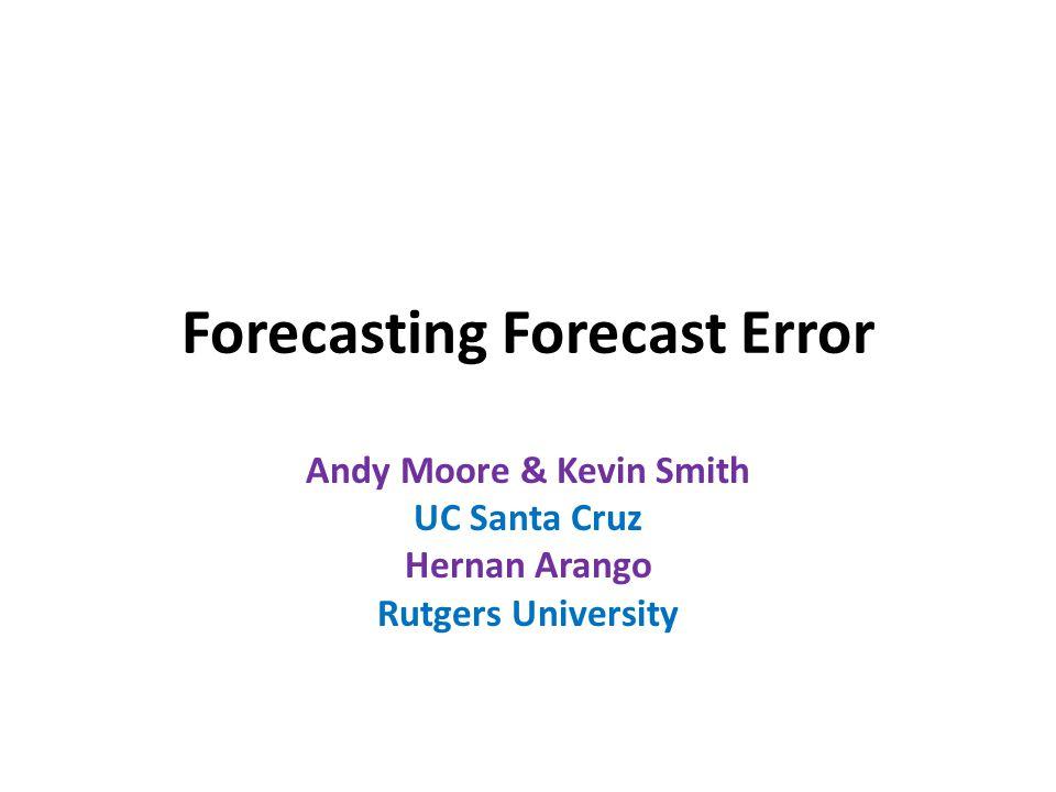 Forecasting Forecast Error
